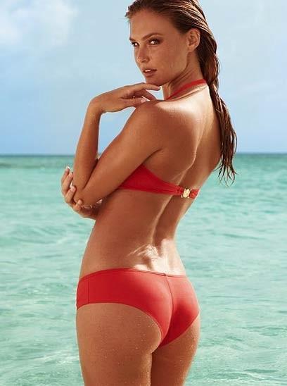 Bar Refaeli In A Tiny Red Bikini