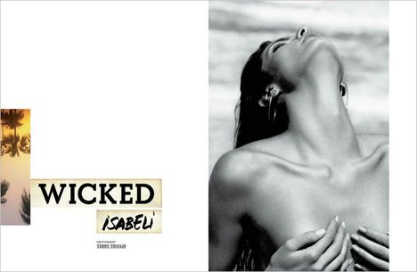 Isabeli Fontana Topless On A Beach For Muse Magazine