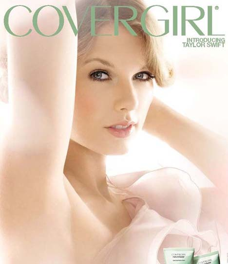 Taylor Swift shines in her first advertising campaign as face of CoverGirl